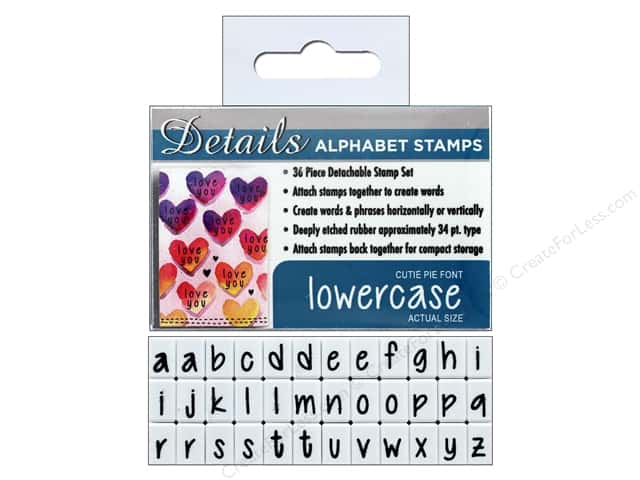 Contact USA Clickable Stamp Set 36 pc Lower Case Cutie Pie