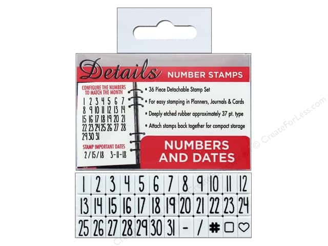 Contact USA Clickable Stamp Set Details Number & Date 36 pc