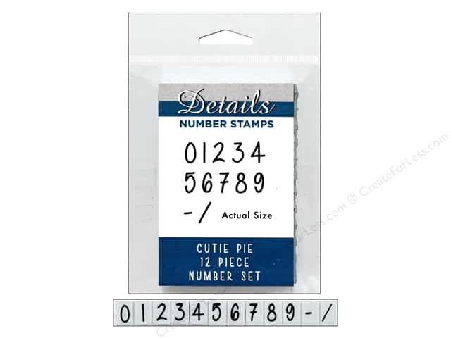 Contact USA Clickable Stamp Set 12 pc Number Cutie Pie