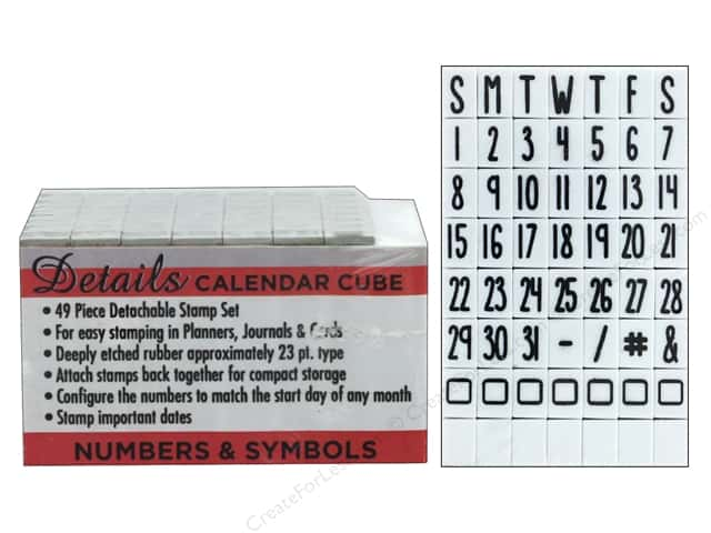 Contact USA Clickable Stamp Set Details Calendar Cube 49 pc