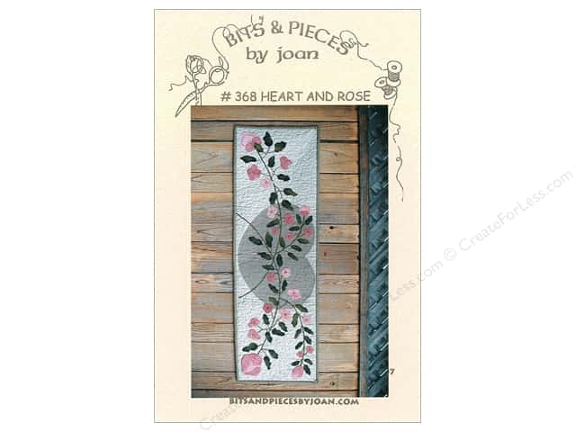 Bits & Pieces By Joan Patterns - Heart and Rose Table Runner
