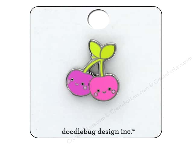 Doodlebug Collection Sweet Summer Collectible Pin Cheery Cherries