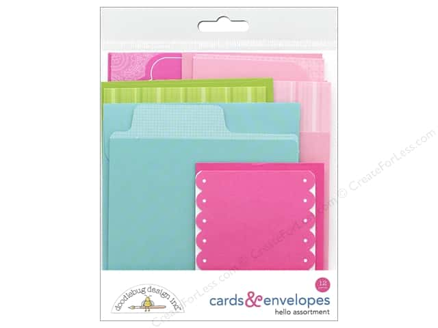 Doodlebug Collection Hello Card & Envelope Assorted