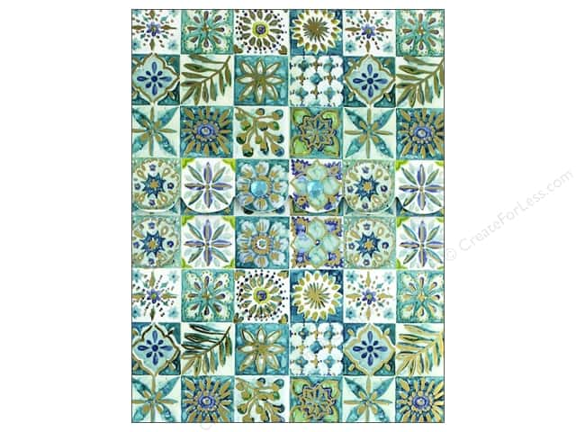 Punch Studio Note Pad Pocket Blue Flower Squares