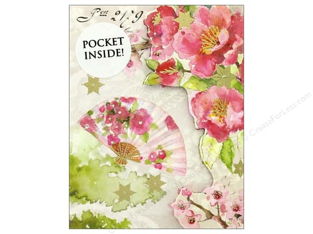 Punch Studio Note Pad Inside Pocket Pink Blossoms
