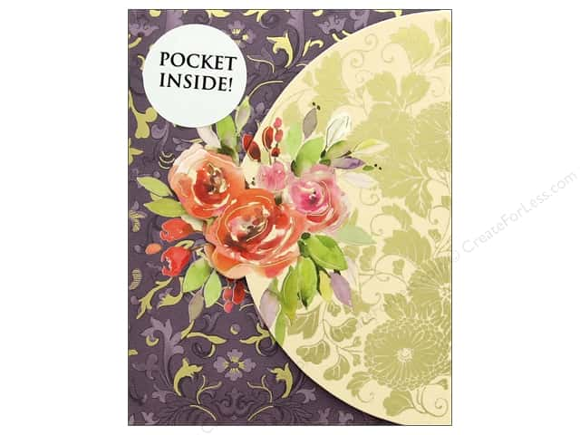 Punch Studio Note Pad Inside Pocket Roses