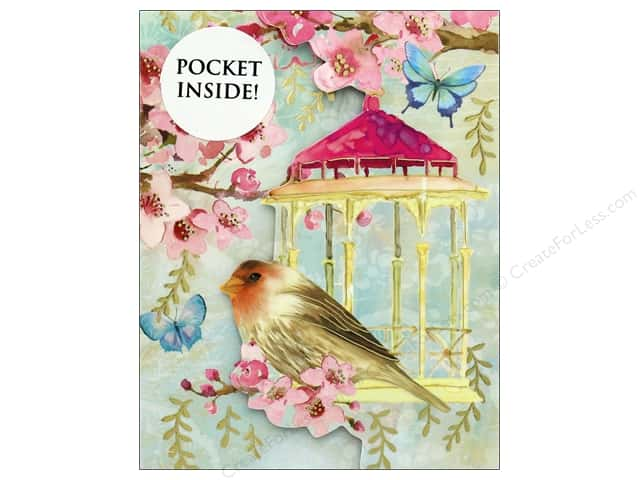 Punch Studio Note Pad Inside Pocket Bird & Cage