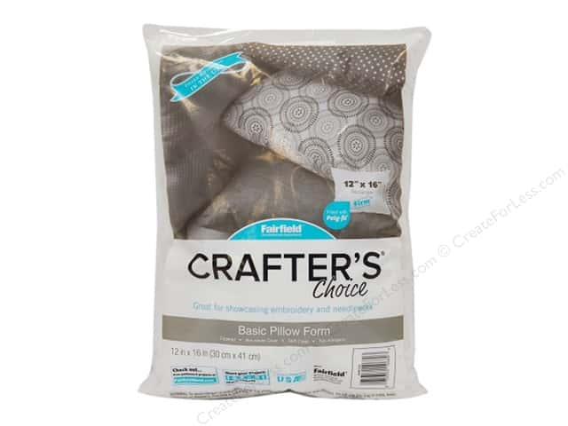 Fairfield Pillow Form Crafters Choice 12 in. x 16 in. Rectangle