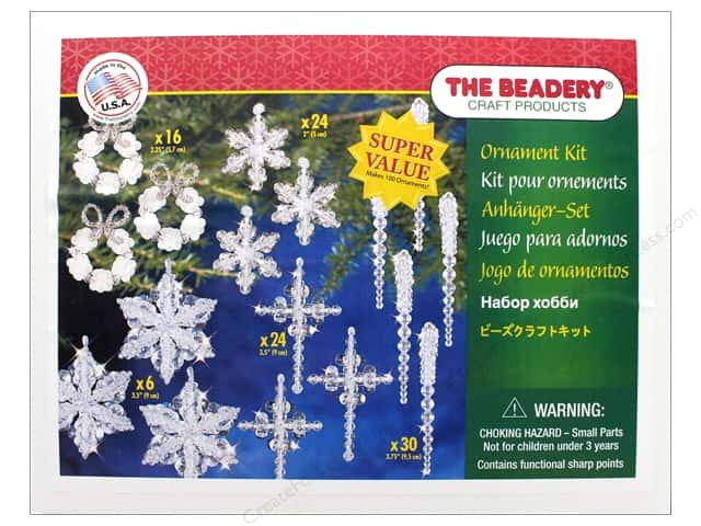 Beadery Craft Kit Ornament Christmas Crystal Collection