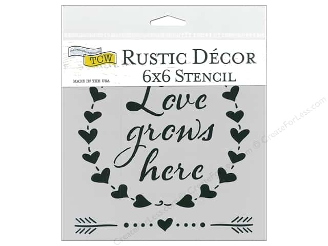 The Crafter's Workshop Stencil 6 in. x 6 in. Love Grows