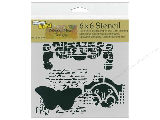 The Crafter's Workshop Stencil 6 in. x 6 in. Regal Butterfly
