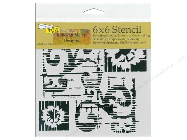 The Crafter's Workshop Stencil 6 in. x 6 in. Flower Scroll