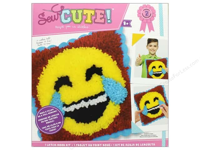 Colorbok Kit Sew Cute Latch Hook Emoji Tears of Joy