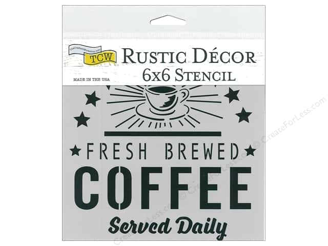 The Crafter's Workshop Stencil 6 in. x 6 in. Fresh Coffee