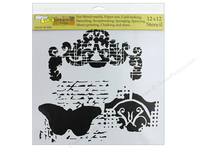 The Crafter's Workshop Stencil 12 in. x 12 in. Regal Butterfly