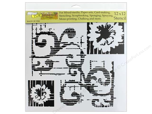 The Crafter's Workshop Stencil 12 in. x 12 in. Flower Scroll