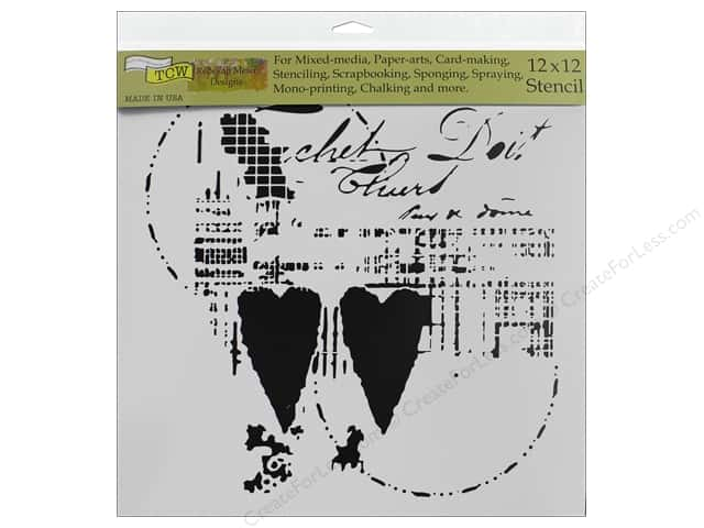 The Crafter's Workshop Stencil 12 in. x 12 in. Two Hearts