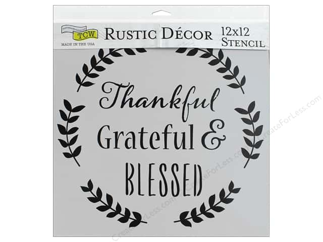 The Crafter's Workshop Stencil 12 in. x 12 in. Thankful