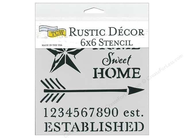 The Crafter's Workshop Stencil 6 in. x 6 in. Home Sweet