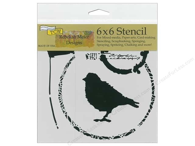 The Crafter's Workshop Stencil 6 in. x 6 in. Thoughtful Bird