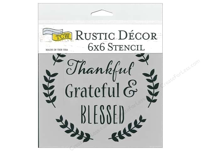 The Crafter's Workshop Stencil 6 in. x 6 in. Thankful
