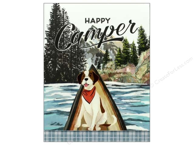 Molly & Rex Note Happy Camper Pocket Pad Dog/Canoe