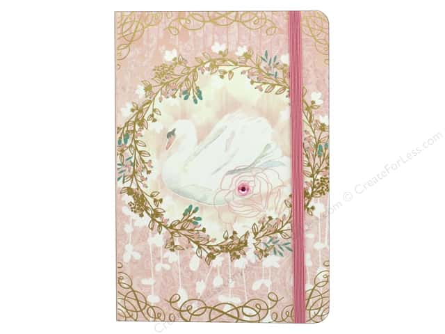 Punch Studio Journal Soft Cover Bungee Swan