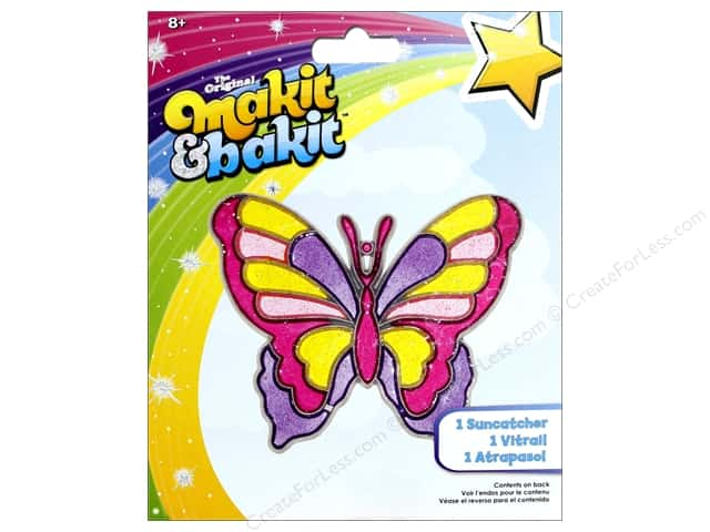 Colorbok Makit & Bakit Suncatcher Kit - Butterfly