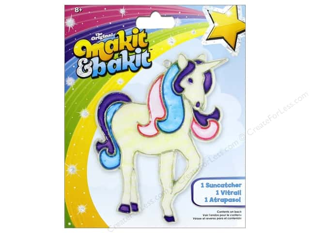 Colorbok Makit & Bakit Suncatcher Kit - Unicorn