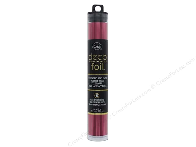 iCraft Deco Foil Transfer 6 in. x 12 in. Tube Wild Cherry 5 pc