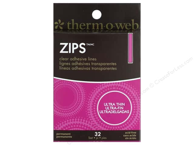 Therm O Web Adhesive Zips 1/8 in. x 32 ft. Ultra Thin Lines