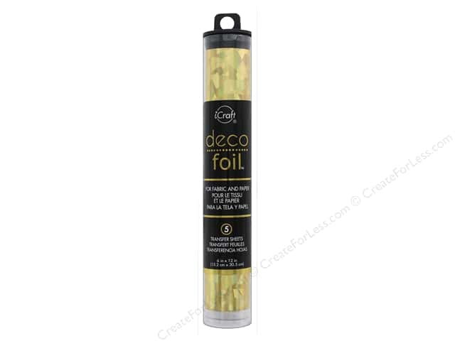 iCraft Deco Foil Transfer 6 in. x 12 in. Tube Shattered Glass Gold