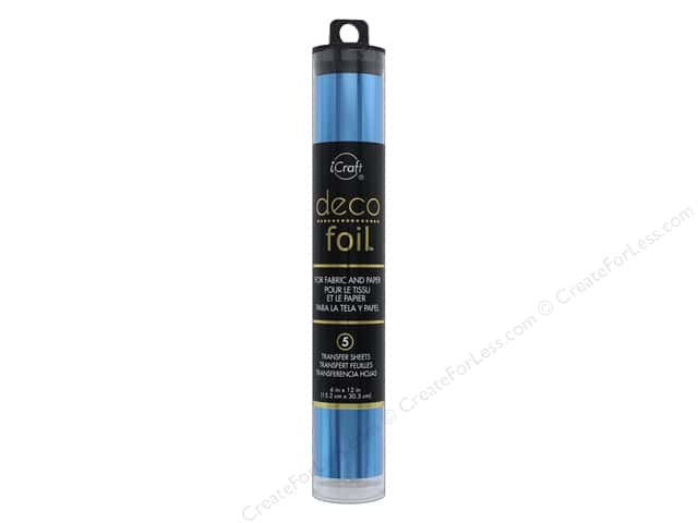 iCraft Deco Foil Transfer 6 in. x 12 in. Tube Denim 5 pc