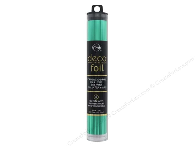 iCraft Deco Foil Transfer 6 in. x 12 in. Tube Jade 5 pc