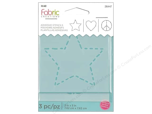 Plaid Fabric Creations Adhesive Stencils 3 x 3 in. Star (3 sets)