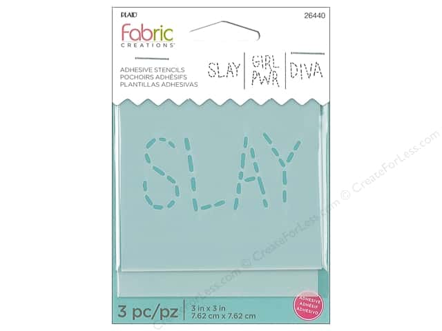 Plaid Fabric Creations Adhesive Stencils 3 x 3 in. Slay