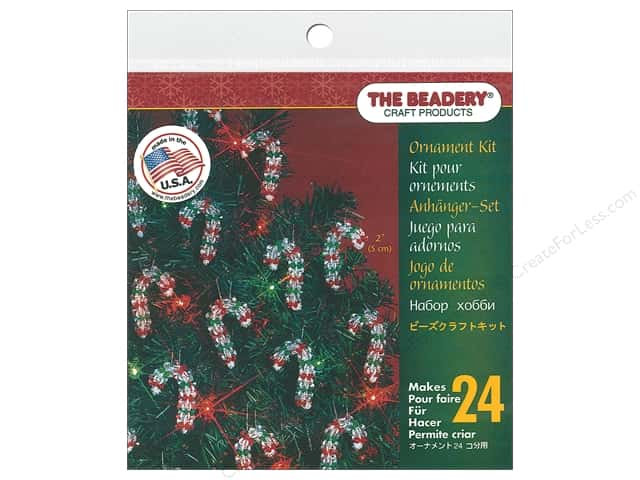 The Beadery Kit Ornament Mini Candy Cane