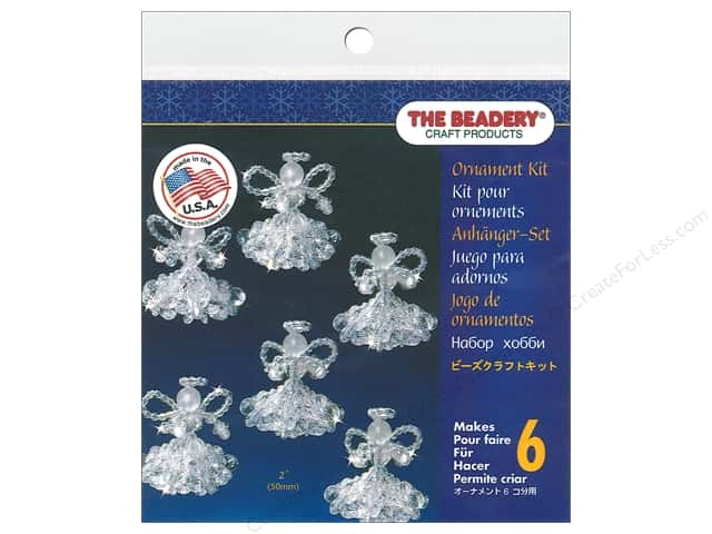 Beadery Craft Kit Ornament Crystal Angels