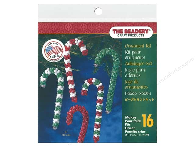 Beadery Craft Kit Ornament Candy Cane Assorted