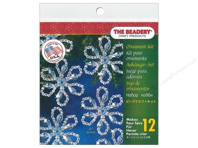 Beadery Craft Kit Ornament Christmas Flower