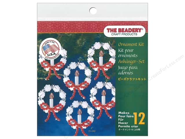 Beadery Craft Kit Ornament Frosted Candle Wreath