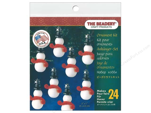 Beadery Craft Kit Ornament Classic Snowman