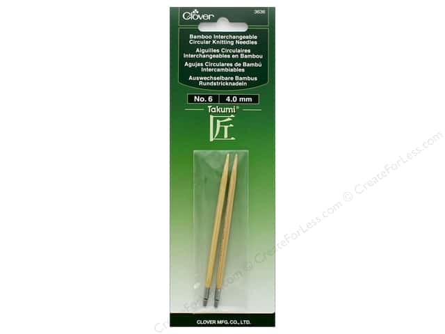 Clover Interchangeable Circular Knitting Needle Size 6