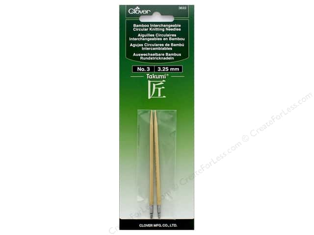 Clover Interchangeable Circular Knitting Needle Size 3