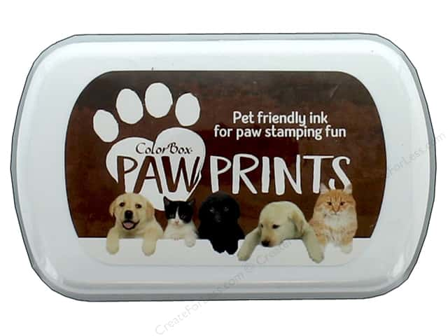ColorBox Paw Prints Ink Pad Brown