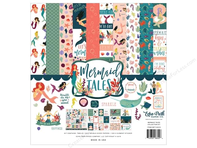 Echo Park Collection Mermaid Tales Collection Kit 12 in. x 12 in.