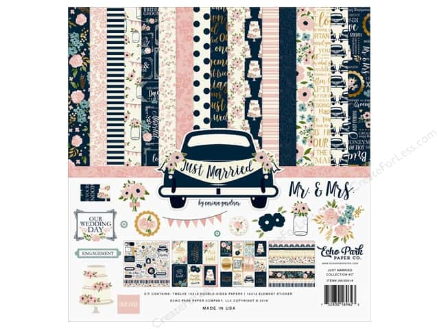 Echo Park Collection Just Married Collection Kit  12 in. x 12 in.