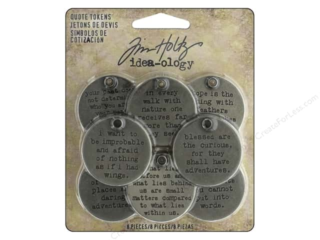 Tim Holtz Idea-ology Quote Tokens
