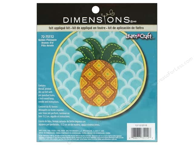 Dimensions Applique Kit Learn A Craft Felt Pineapple