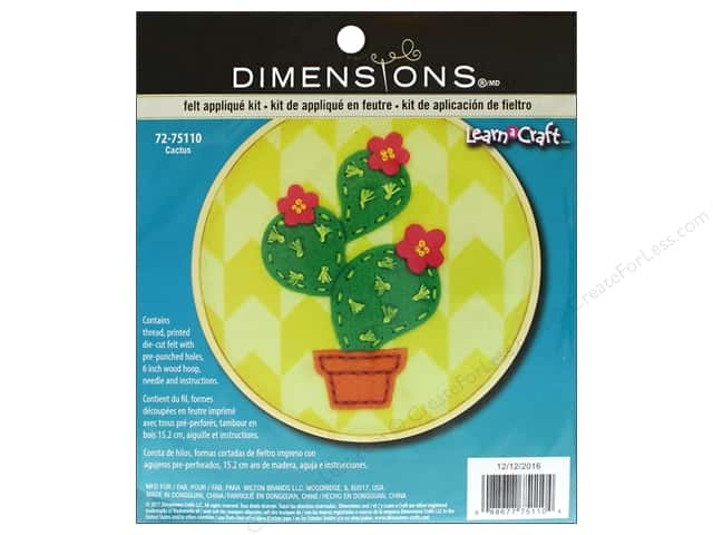 Dimensions Applique Kit Learn A Craft Felt Cactus
